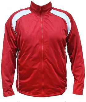 Tricot Warm up Sports Full Zip up Track Top Red