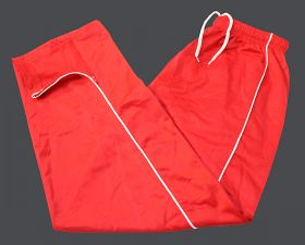 Tricot Plain Sports Warm Up Piping Style Jog Track Trouser Red