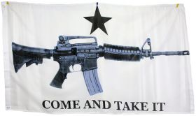 3'x5' Super Polyester M4 Carbine Come & Take it Flag indoor Outdoor