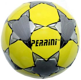 High Quality Pro Perrini Indoor Outdoor Yellow & Gray Sports Soccer Ball Size 5
