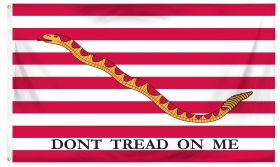 3'x5' Cotton U.S. First Navy Jack Don't Tread On Me Flag
