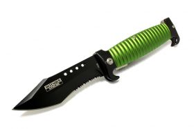 "8.5"" Defender Extreme Spring Assisted Knife with Belt Clip - Green"
