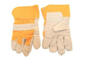 Cowhide Leather Safety Protective Gloves Industrial Work Labor Protection Grey