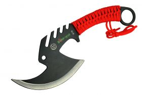 "11.5"" Zomb-War Tactical Axe Stainless Steel Red"