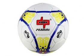 Perrini Match Soccer Ball Tacno Material Training Football Yellow Blue Size 5