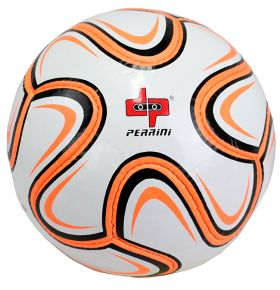 Perrini Match Ball Soccer Neon Orange & Black Football Training Official Size 5