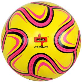 Perrini Match Ball Soccer Pink Yellow Black Football Training Official Size 5