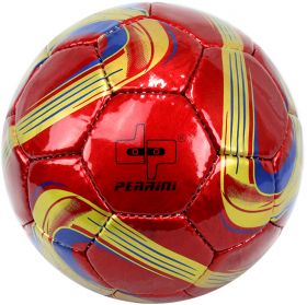 Perrini Match Ball Soccer Red Gold Navy Football Training Official Size 5