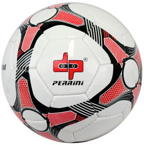 Perrini Match Futsal Soccer Ball Black Red White Football Training Official Size 5