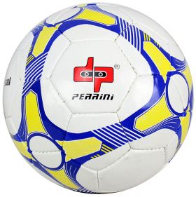 Perrini Match Ball Soccer Blue Yellow White Football Training Official Size 5