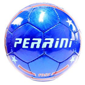 Perrini Match Ball Soccer Blue With White Stars Football Training Size 5