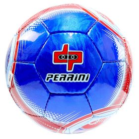 Perrini Match Ball Soccer Blue With Red White Trim Football Training Size 5
