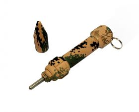"4.5"" Black Self Defense Key Chain Glass Breaker Desert Digital Camouflage"