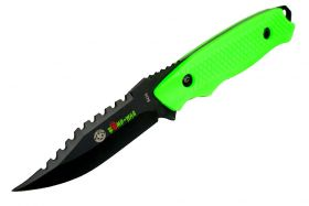 "8"" Zomb-War Rambo Hunting Knife with Sheath Green"