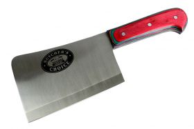 "10"" Defender Xtreme Butcher Knife Stainless Steel Blade with Multicolor Wood Handle"