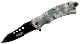 "9"" Defender Xtreme Spring Assisted Knife with Fire Starter Digital Camo"