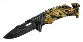 "8"" Defender Xtreme Spring Assisted Knife and Seat belt Cutter"