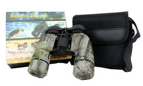 10X36 Huntdown Camo Waterproof Binoculars with Nylon Carrying Case