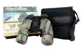 10X36 Huntdown Camo Waterproof Binoculars with Nylon Carrying Case
