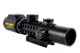 Hunt-Down Black Matte 2-6x28TEB R/G Compact Hunting Rifle Scope