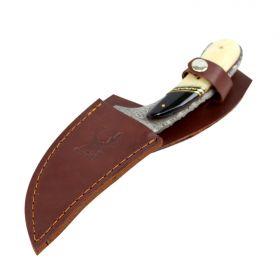 "TheBoneEdge 8.5"" Damascus Skinner Hunting Knife Bone Handle Series"