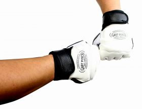 Pro Style Artificial Leather Fingerless Boxing Fighting MMA Training Gloves Black/White