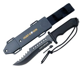 "Hunt-Down 12"" Hunting Survival Knife with ABS Sheath and Fire Starter New"