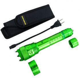 Hunt-Down High Powered Tactical Green Flashlight Self Defence Stun Gun