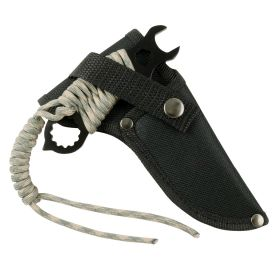 "Hunt-Down 5"" Stainless Steel Blade Black All Around  Survial Knife with Sheath"