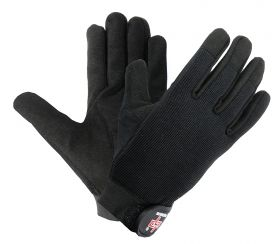 Perrini Black Ultimate Grip Mechanical / Work / Industrial / Safety Gloves All Sizes S - XXL