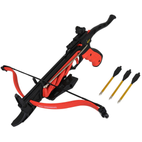 The Impact 80 Lb Hand Hunting Crossbow Black & Red W/ Safety