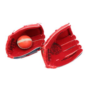 Red Baseball Glove & Ball Set Child Easy Catch Ball Toddler Kid's Throw Fielding