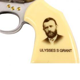 """Ulysses S Grant 7.5"""" Gun Folding Knife Stainless Steel Revoler Style"""