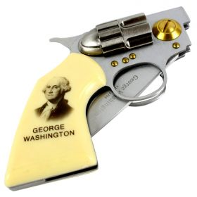 High Quality Defender George Washington Gun Folding Knife