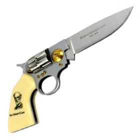 High Quality Defender Gen. Robert E. Lee Gun Folding Knife
