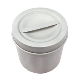 "BDeals Stainless Steel Medium Dressing Jar 3.5""x3.5""/9x9cm Hospital Holloware"