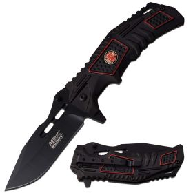 "MTECH USA Spring Assisted Knife 4.7"" CLOSED Black Blade 2 tone Handle"