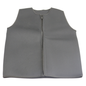 Men's Neoprene Sauna Vest Sweat Shirt Corset Body Shaper Zipper Gym Training Top