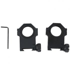 "Black 30mm X 1.5"" H HD Weaver Rings Fit's All Hunt-Down Scopes"