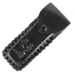 "TheBoneEdge Black 5"" Tactical knife Leather Sheath for a Knife Belt Loop"