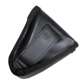 New Black Leather Handcuff Shealth Pouch Case with Belt Holster Tactical