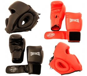 Last Punch High Quality 2 Pairs Pro Boxing Gloves & Pro Head Gears Pro Quality