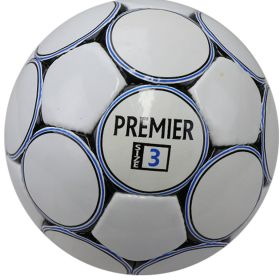 Perrini Premier Indoor Outdoor Sports Blue White Black Soccer Match Ball Size 3