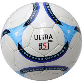 Perrini Ultra Indoor Outdoor Sports White Blue Soccer Ball Size 5