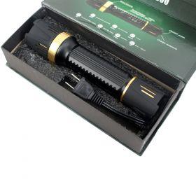 Defender-Xtreme Black Multifunction 230 Lumens Flashlight Self Defence Stun Gun
