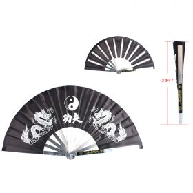 "Defender 13.5"" X 26"" Steel Black Color Folding Fan"