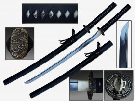 "Defender 40 1/2"" Hand Forged Samurai Sword.1060 Carbon Steel Shinogi Zukuri Style Blade"