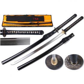 """Defender 41.5"""" Hand Forged 1095 Shinogi Zukuri Blade Katana Samurai Sword MYOUOU Tsuba"""