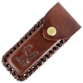 "TheBoneEdge Brown 5"" Tactical knife Leather Sheath for a Knife Belt Loop"