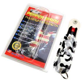 Snake Eye Pepper Spray 1/2 Oz With Camo GBW Sheath Key Chain